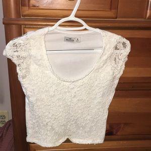 White short sleeve shirt, size medium